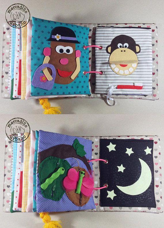 beb/és regalo sensorial regalo original para beb/és 8paginas y+ Quiet book juguete sensorial juegos Libro de actividades montessori