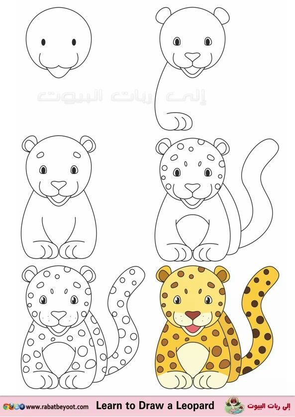 Leopardo | animales | Pinterest | Dibujos fáciles, Dibujar y Dibujo