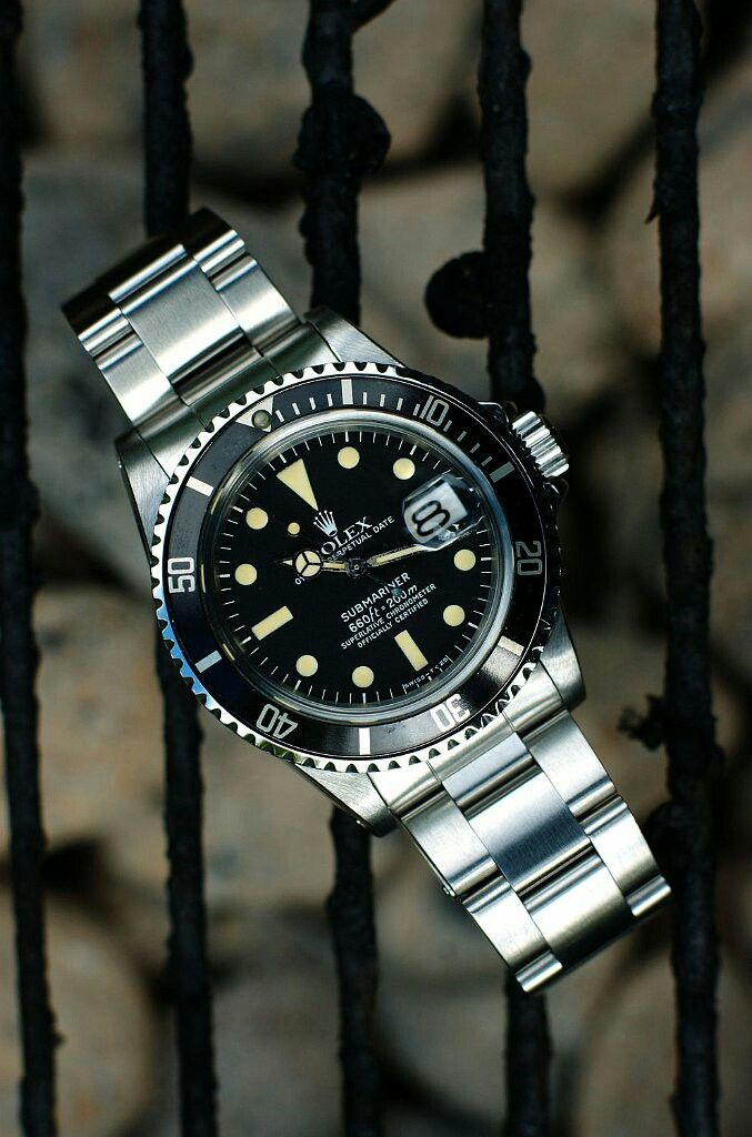 My lovely rolex sub  1680. Date sub The patina on this baby is so nice.  Something special about these older rolex. #rolex #mondani #womw #date #watchporn #patina