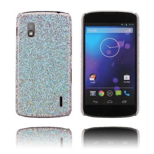 Glitter (Valkoinen) LG Google Nexus 4 Suojakuori - http://lux-case.fi/glitter-valkoinen-lg-google-nexus-4-suojakuori.html
