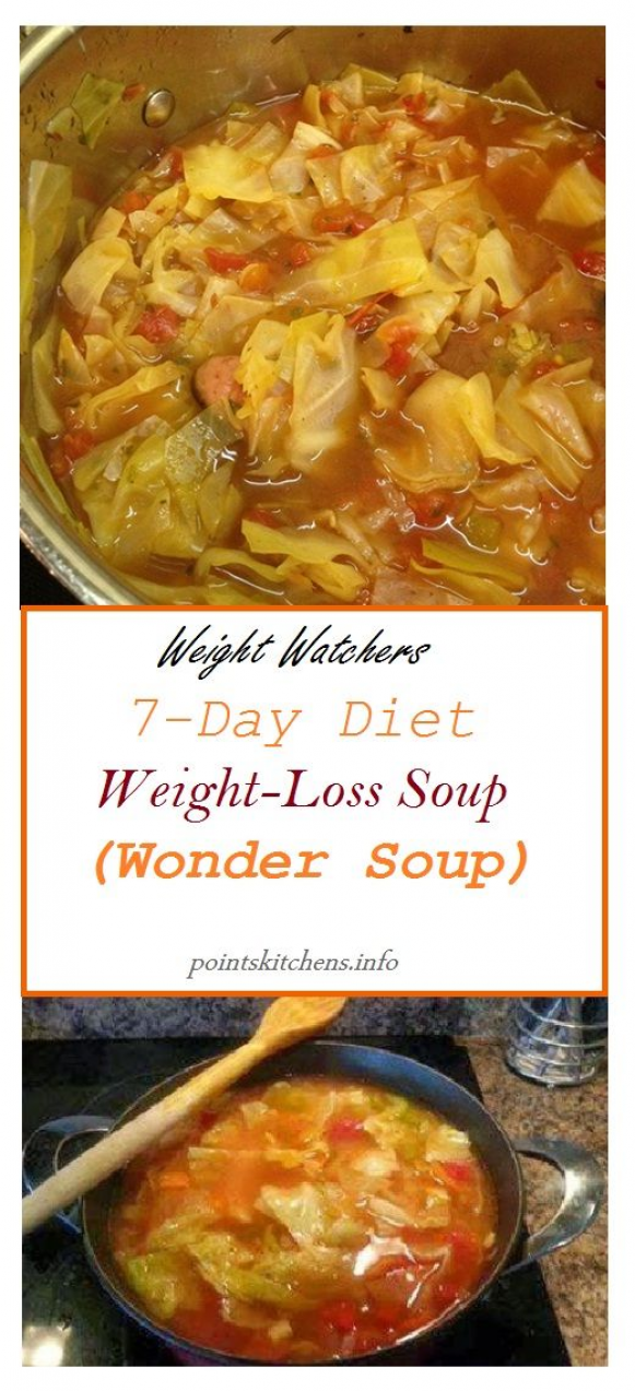 #weightwatchers // 7-Day #Diet #Weight-Loss #Soup (Wonder Soup) // #weight_watchers // #pointskitchen // #Recipes //#food // #healthyfood // #smartpoints // #smart_points // #skinny // #Family // #Health #detoxdiet