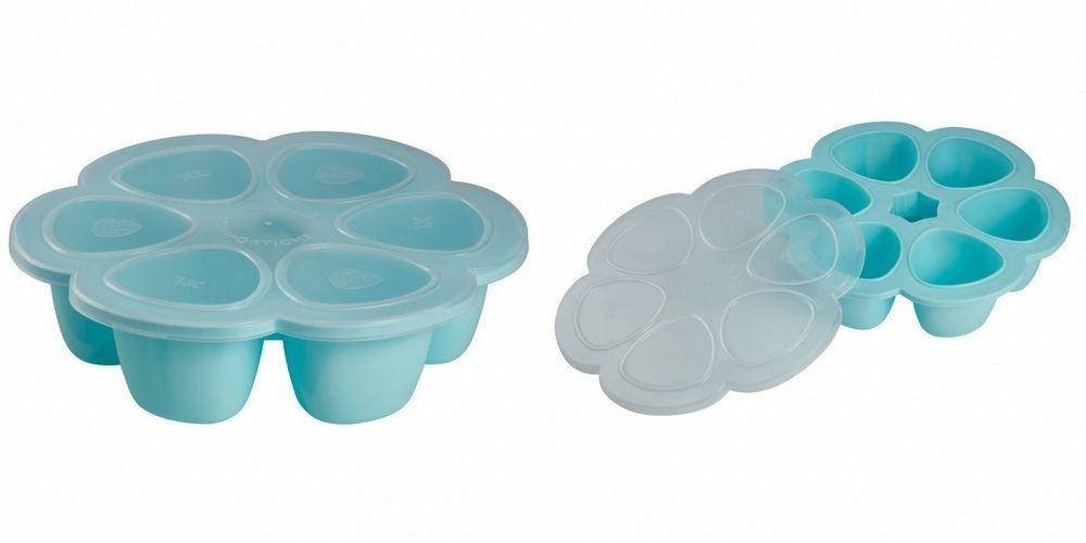Freeze food tray baby child storage pots 6 small freezer