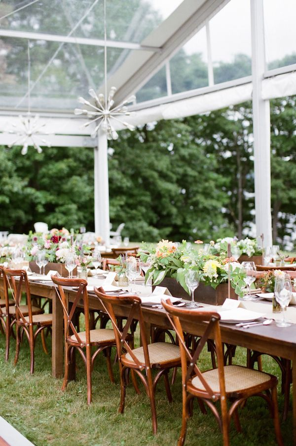 greenhouse inspired Maine wedding, captured by Meredith