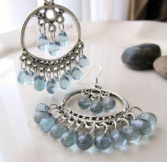 Boho Chandelier Earrings Bohemian Style Earring Baby by ByGerene, $18.00