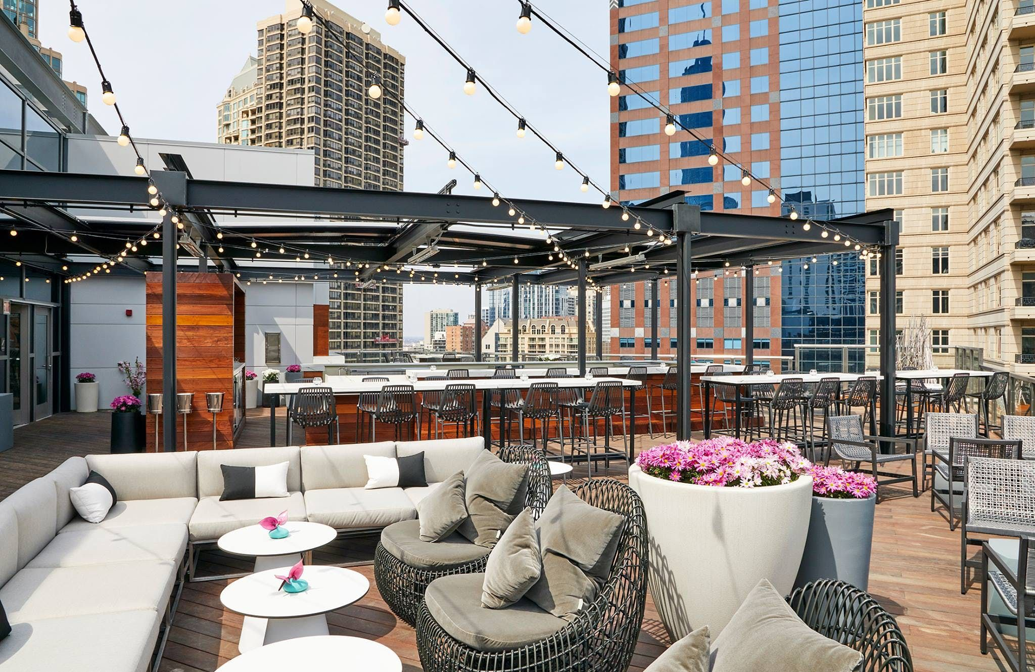 Congratulations! You made it to summer. First order of business: Spend as much time outside as possible?preferably while sipping an icy cocktail and taking in a killer skyline view. We found 15 Chicago rooftops for doing just that. RELATED: 30 Things to Do This Summer in Chicago