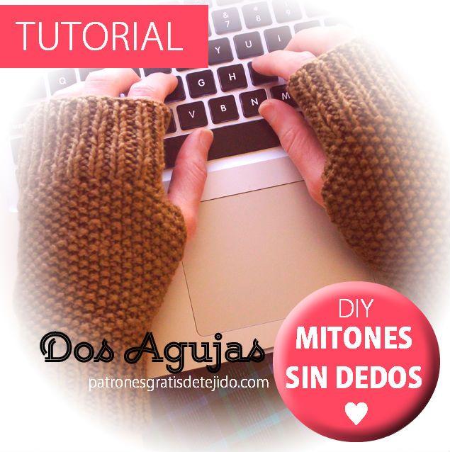 Mitones sin dedo muy fáciles de tejer / Tutorial Dos Agujas ...