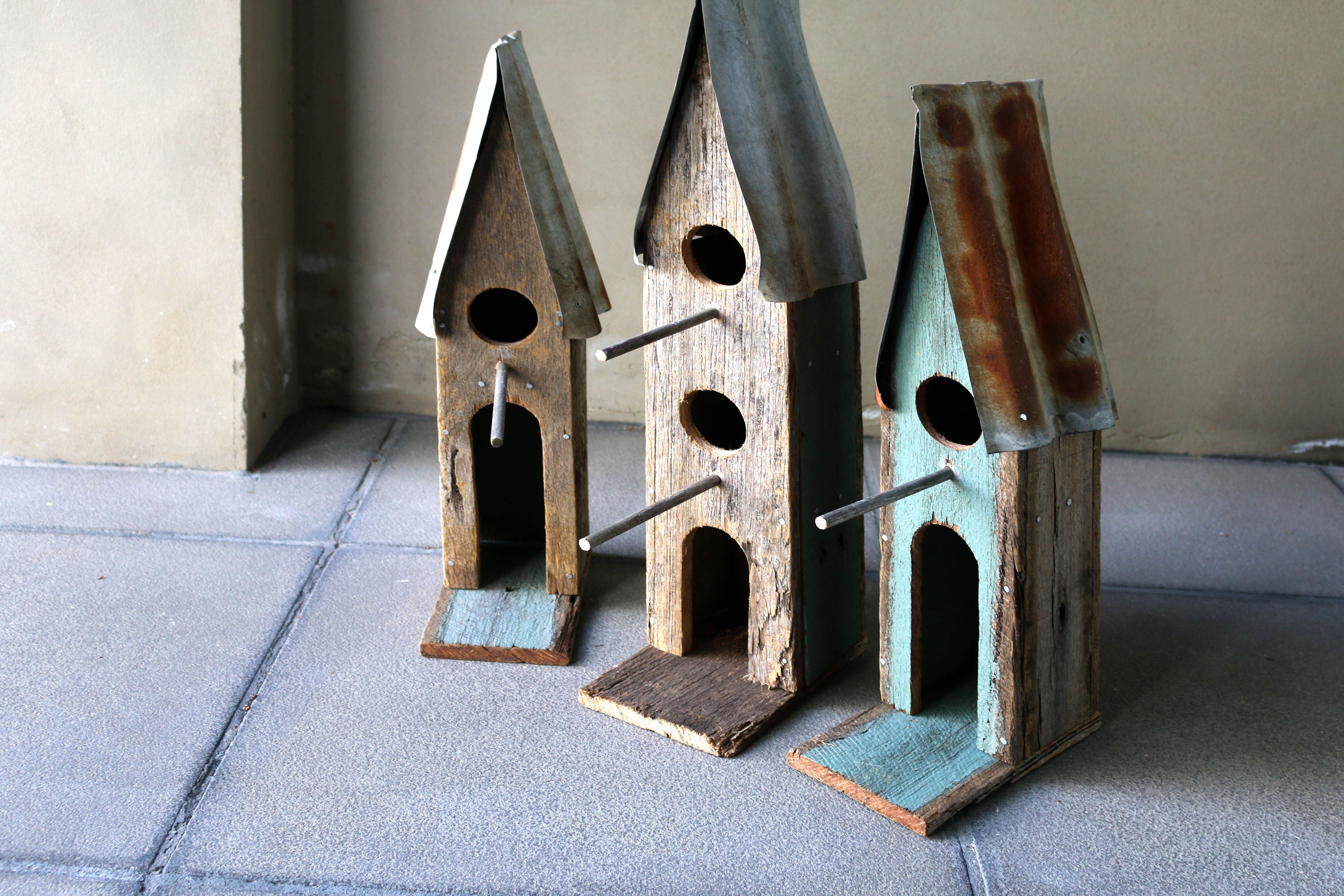 Boodle Concepts Sustainable Birdhouse Wall Art Bird House Design In Melbourne Rustic Timber Corrugated Iron Des Bird Houses Handmade Birdhouses Bird House