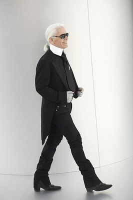 They could be twins:) Jimmy Page's Doppleganger:  Karl Lagerfeld for Chanel