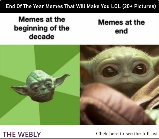 End Of The Year Memes That Will Make You Lol 20 Pictures Yoda Meme Star Wars Memes Funny Memes