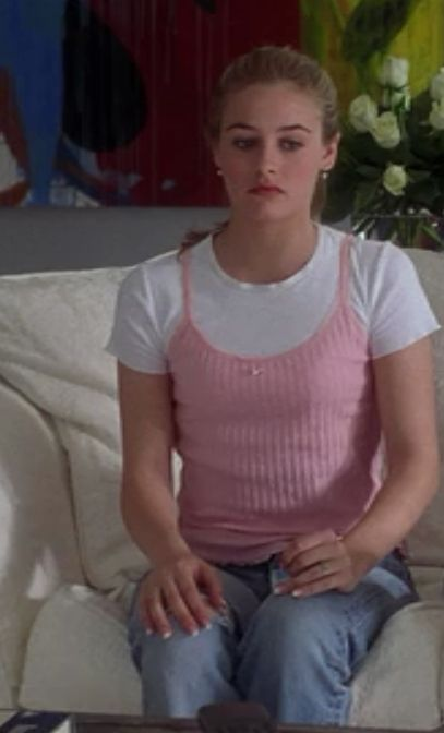 "Extra points for basically inventing the trend where girls wore spaghetti strap tanks over t-shirts. | An Extensive Ranking Of 116 ""Clueless"" Outfits"