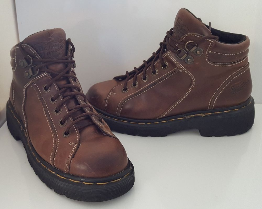 Dr Martens Leather Ankle Boots 9352 Womens Sz 6 Brown