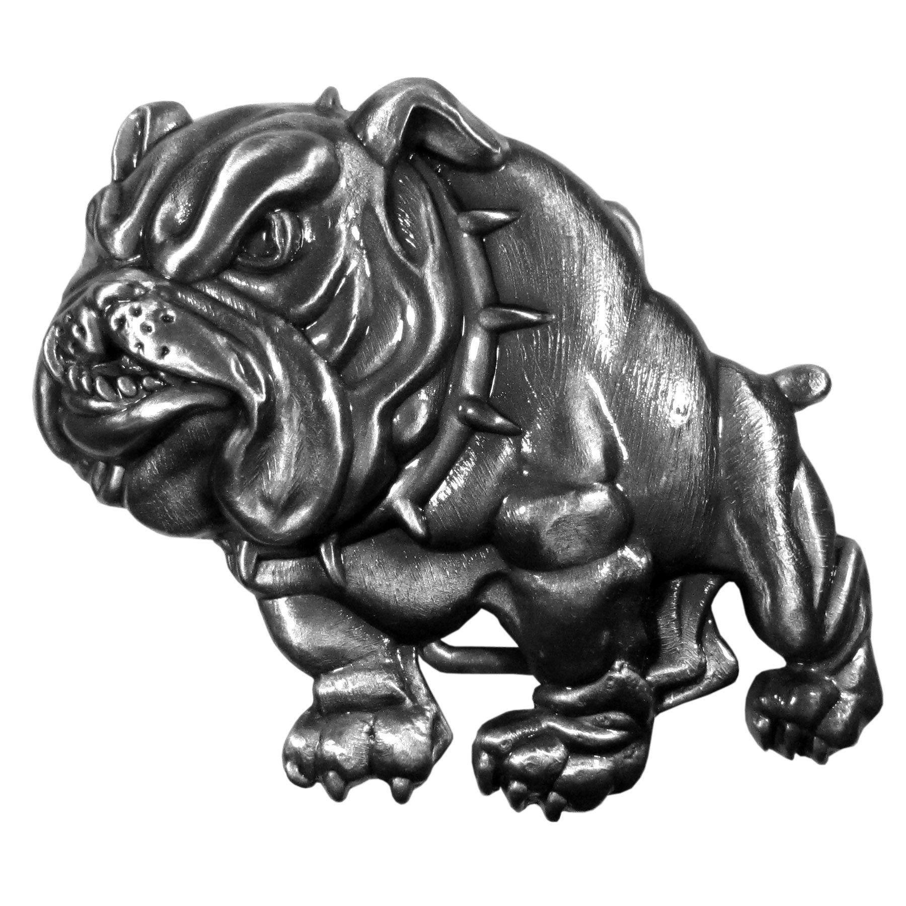 Bulldog Dog Belt Buckle Man Accessory Southwestern Silver for Leather Belt