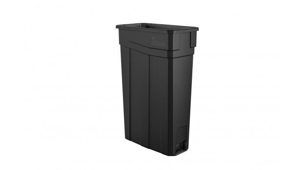 Skinny Plastic 23 Gallon Slim Trash Can Vented Tcnh2030 Indoor