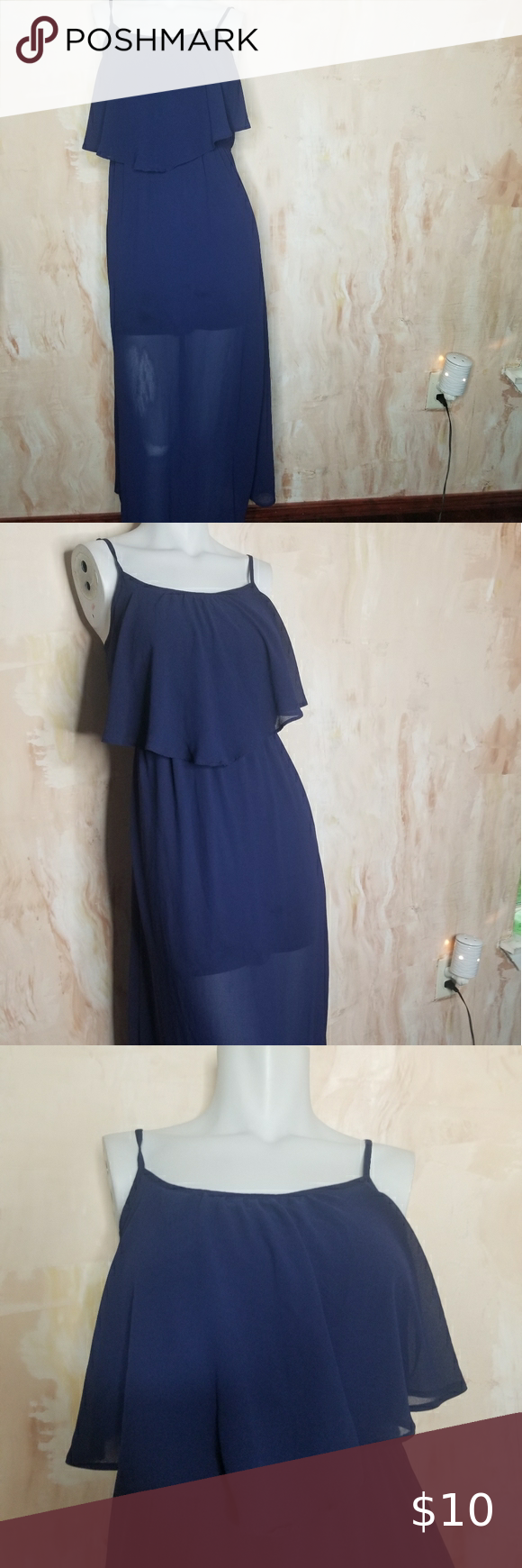 Xhilaration Maxi Dress Size Xs Adjustable Straps 16 Inches Across The Chest 10 5 Inches Across The Waist But Streches Furth Maxi Dress Dresses Clothes Design [ 1740 x 580 Pixel ]