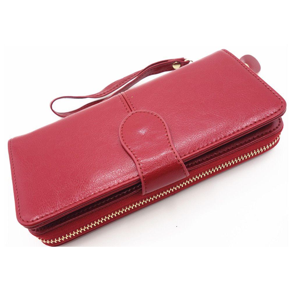 Hohe Qualität Frauen Marke echtes Leder Kupplung Brieftasche, Weibliche Langen Geldbeutel, Dame multifunktions Geldbörse Telefon brieftasche kartenhalter