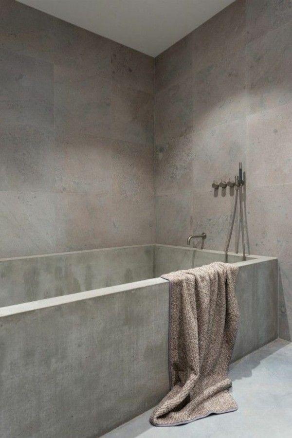 Baignoire En Beton Cire Recherche Google Concrete Bathroom
