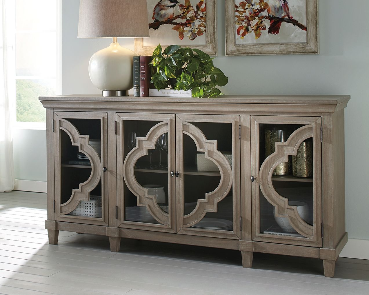 Best Fossil Ridge Accent Cabinet Gray Ashley Furniture 400 x 300