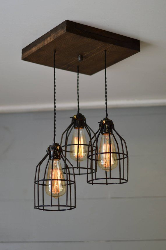 Farmhouse Light Reclaimed Wood Chandelier Light