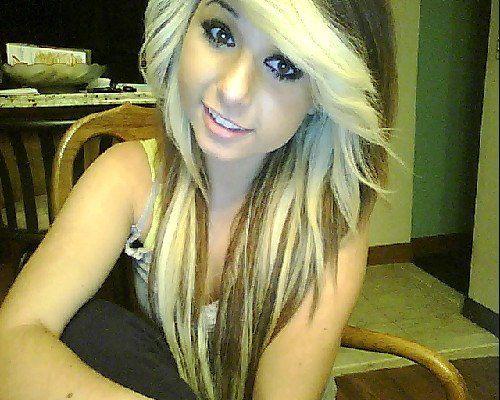 blonde hair with brown underneath | scene hair # gorgeous ...