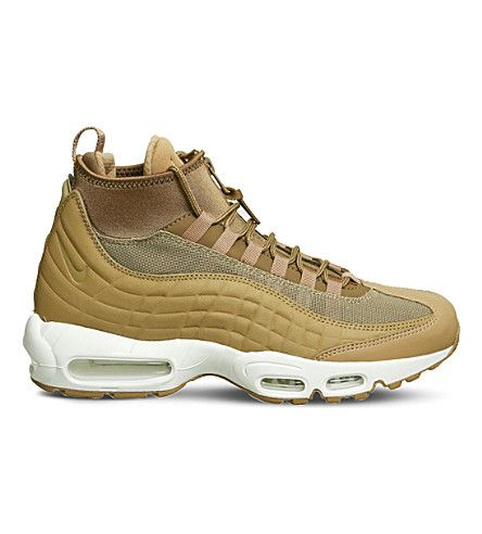 NIKE Air Max 95 Sneakerboot leather and fabric high-top sneakers. #nike # shoes #