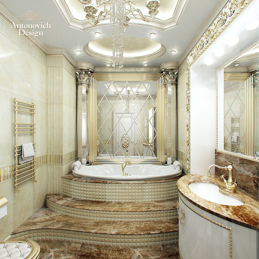Antonovich design luxury looks royal and luxury this luxury is emphasized with mirror beveled - Luxury bathroom ...