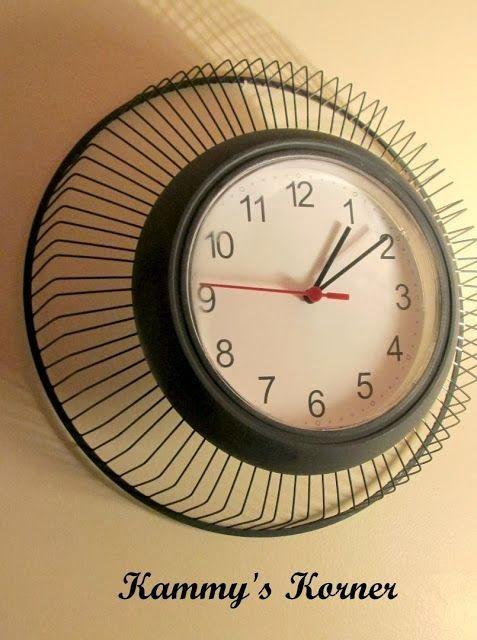88f7c2451ae  Decoração e Invenção   Relógio feito com ventilador - DIY