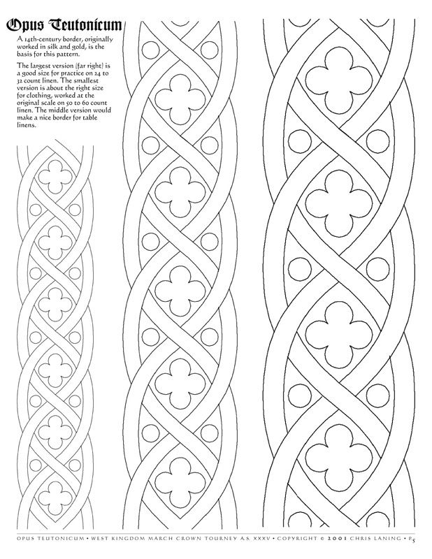 Border pattern for Opus Teutonicum | ORNAMEN | Pinterest | Bordado ...