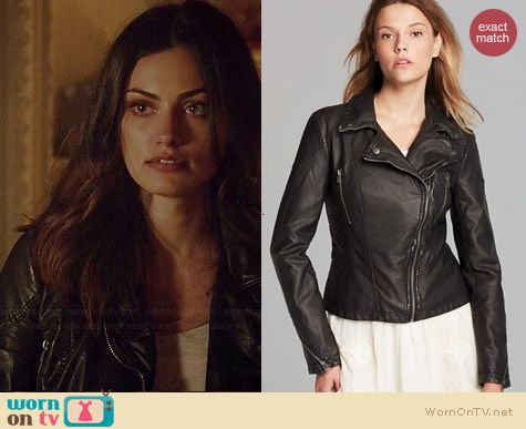 Hayley's black leather jacket on The Originals.  Outfit Details: http://wornontv.net/37864/ #TheOriginals