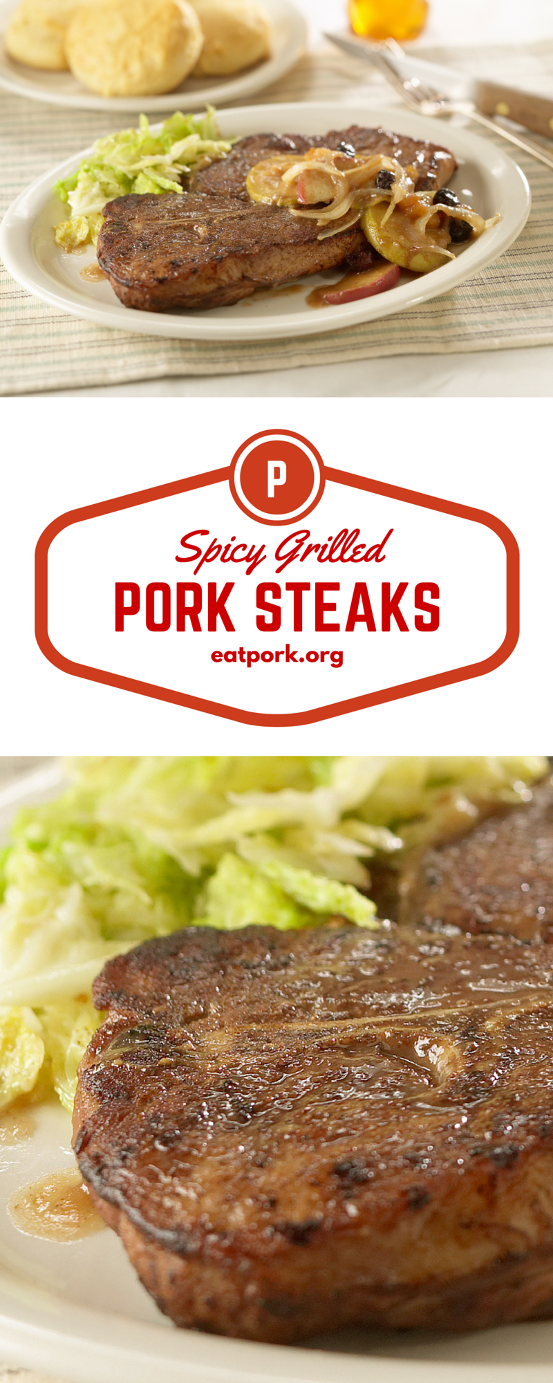 These are the best grilled pork steaks ever! Orange marmalade, chili powder and celery seed make these the perfect, inexpensive grilling meat. Pass the biscuits, please!