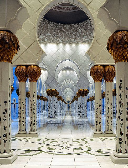 Mosque in Abu Dhabi by Kirstein on Flickr