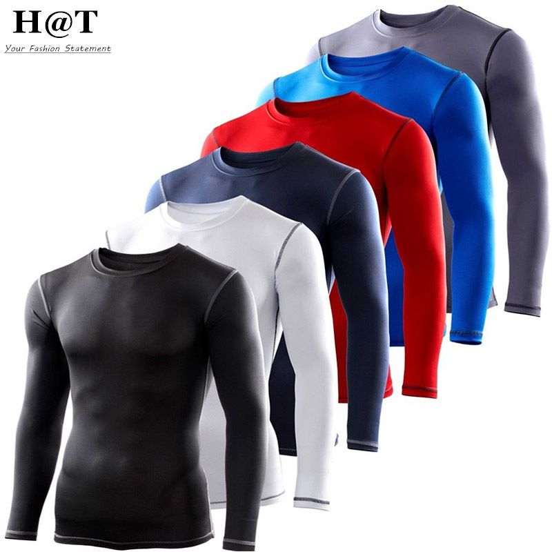 Mens Boy Compression Armour Baselayer Top Thermal Sport Skins Shirt Leggings Set
