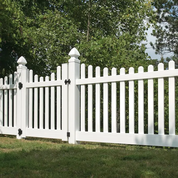 Freedom Ready To Assemble Lennox Scallop 4 Ft H X 8 Ft W White Vinyl Scallop Fence Panel Lowes Com In 2021 Vinyl Fence Panels Vinyl Picket Fence White Vinyl Fence