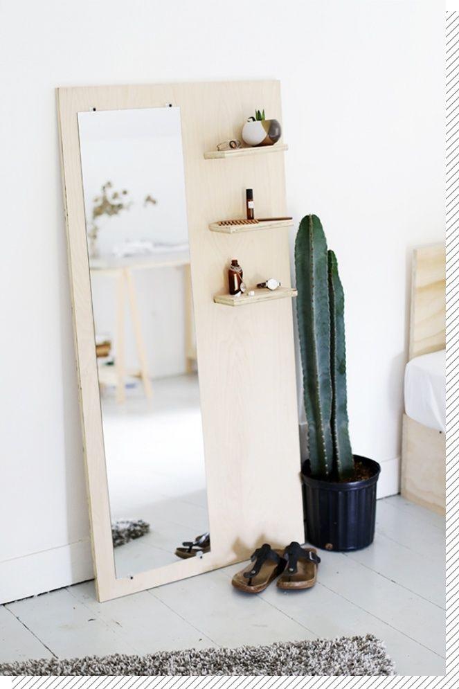 Nos DIY déco préférés : #Décoration Chambre | Miroir sur pied, Diy ...