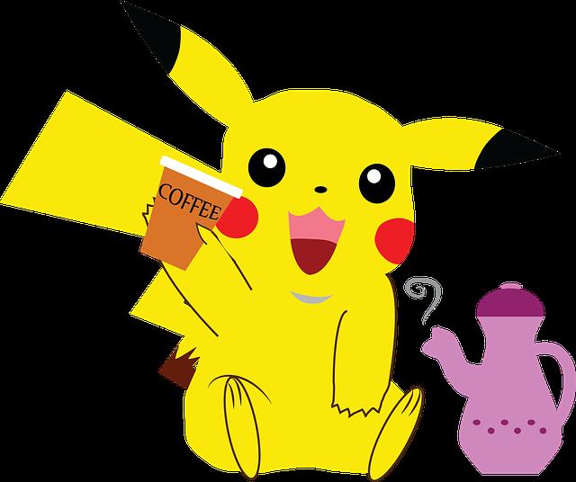 Free Image On Pixabay Pokemon Pikachu Coffee Anime Store Pokemon Pokemon Go