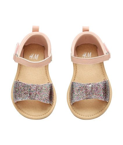 Sandals With A Glittery Bow Product Detail H M Zapatos Para