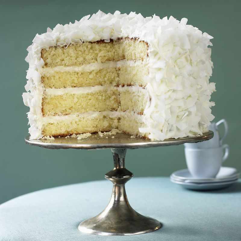 How To Make A Coconut Layer Cake Recipe Sour Cream Cake Coconut Cream Cake Ina Garten Coconut Cake