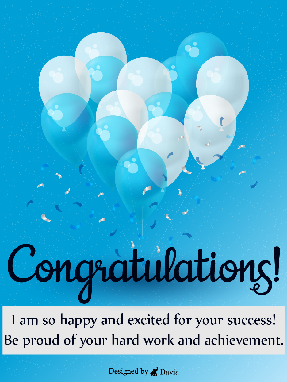 Congrats For Your Hard Work Congratulations Cards Birthday Greeting Cards By Davia In 2021 Congratulation Card Birthday Greeting Cards Congratulations Card