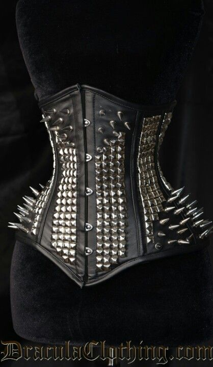 260c5e0eac066 Studded spiked underbust corset from dracula corsets