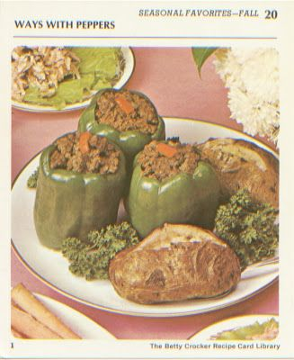 Retro Recipes Stuffed Peppers Recipe By Betty Crocker Betty Crocker Recipes Stuffed Peppers Peppers Recipes