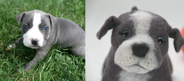 Send in a picture of your dog and they make a stuffed toy that looks just like them...I want one!