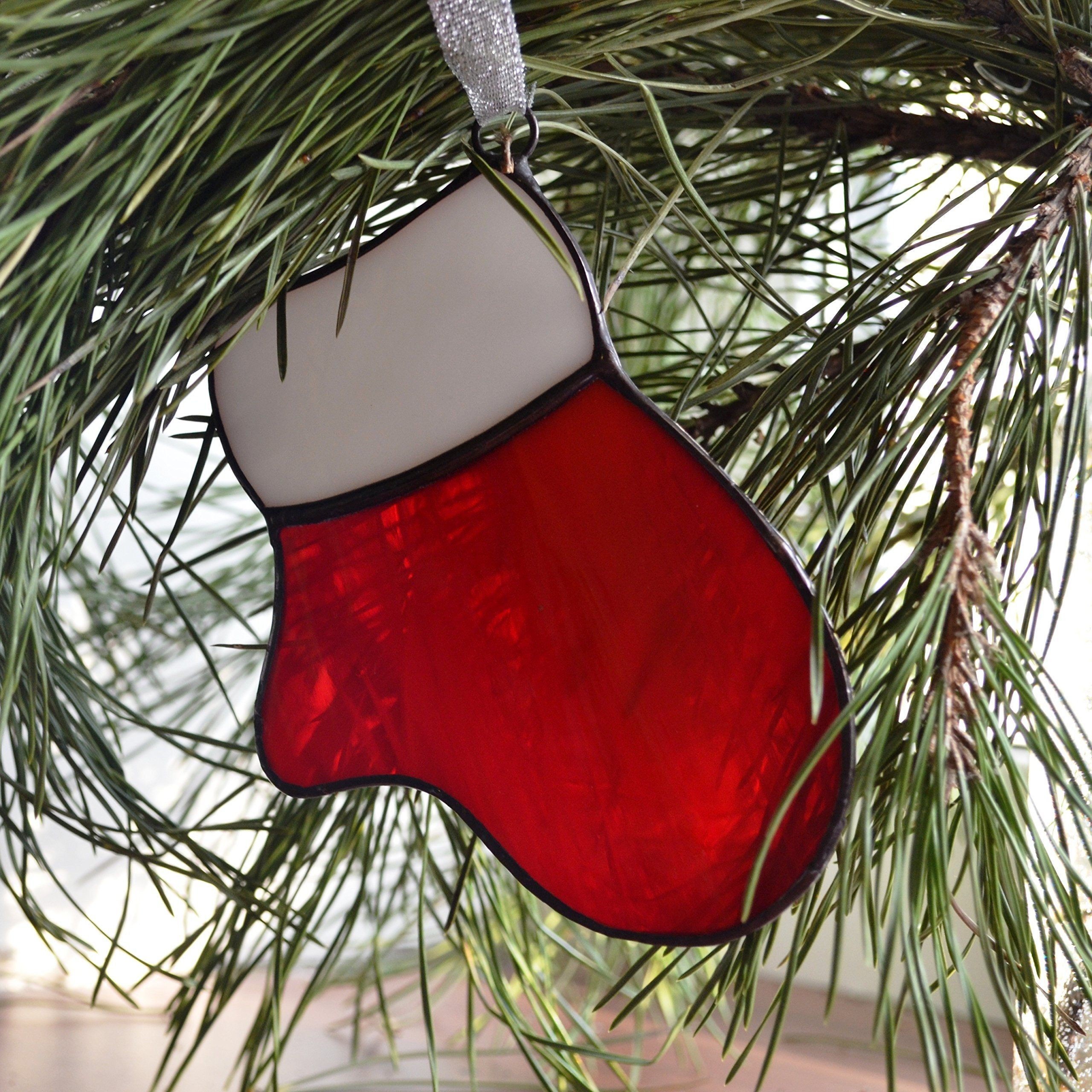 Stained Glass Red Mitten, Christmas Ornament and Decoration -- Awesome products selected by Anna Churchill