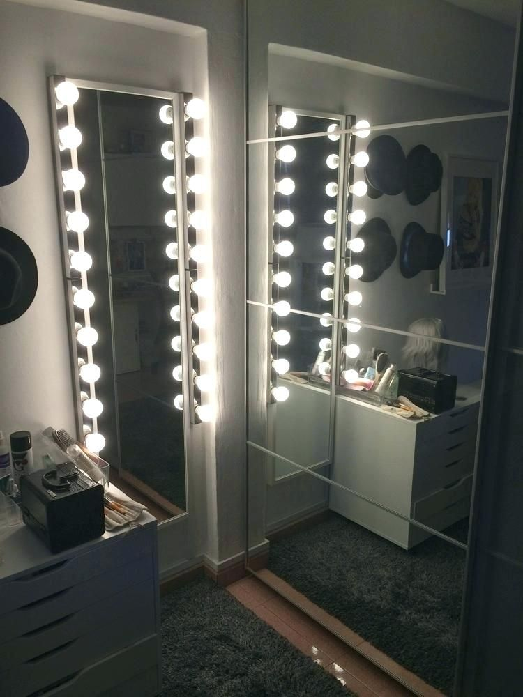 Marquee Light Mirrors Pbteen Full Length Vanity Mirror With Lights Cozy Full Length Vanity Mirror With Lights Bedroom Makeover Beauty Room Room Design