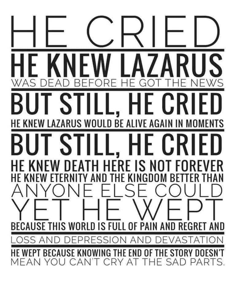Pin By Chris Sanders On Quotes In 2021 Jesus Wept Grief Quotes Christian Grief