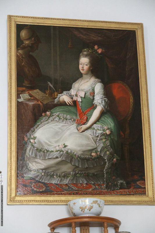 Портрет великой княгини Марии Фёдоровны - Иоганн Готтлиб Пульман с оригинала Помпео Джиролан Батони: