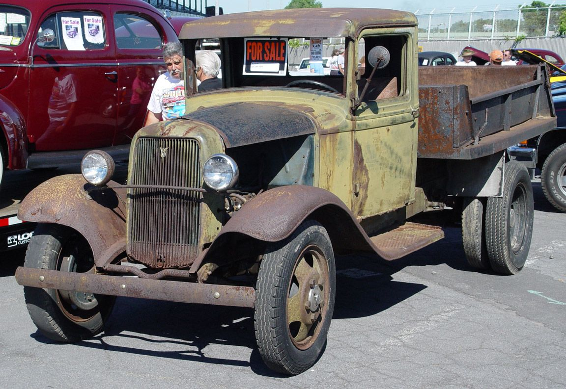 1934 Ford Truck Unrestored Front Angle Trucks Vintage