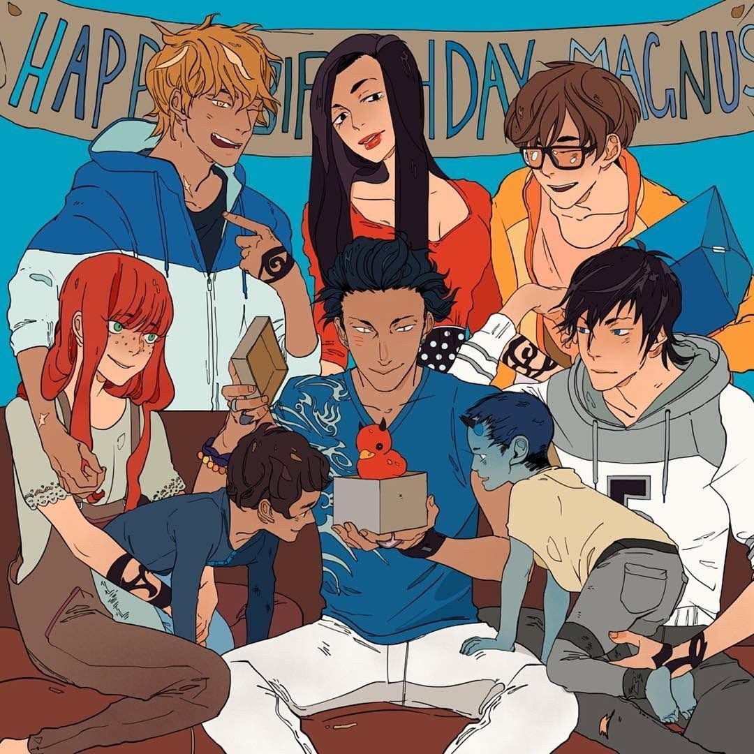 Jace's birthday gift to Magnus, another Duckie!  ...  From Cassandra Jean ...  shadowhunters, alexander 'alec' lightwood, magnus bane, the mortal instruments, malec, rafael lightwood bane, max lightwood bane, simon lewis, jace herondale, clarissa 'clary' fray, isabelle lightwood