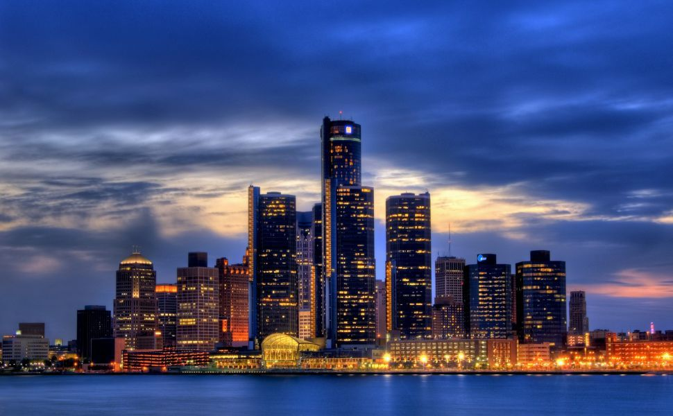 Detroit Skyline Hd Wallpaper Detroit Skyline Detroit Wallpaper Detroit City