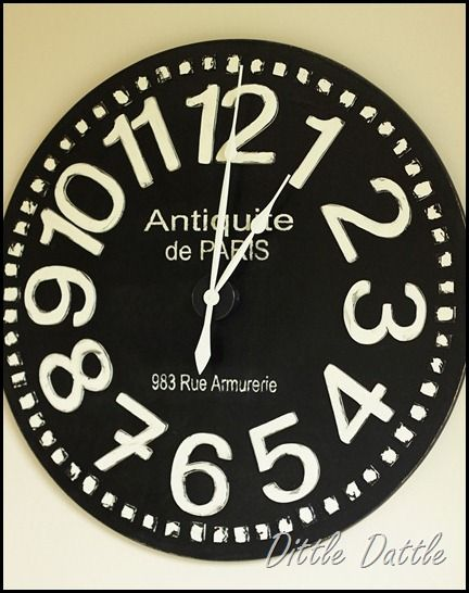 Going to make this for the house . . . in green of course . . . Pier-1-enormous-clock