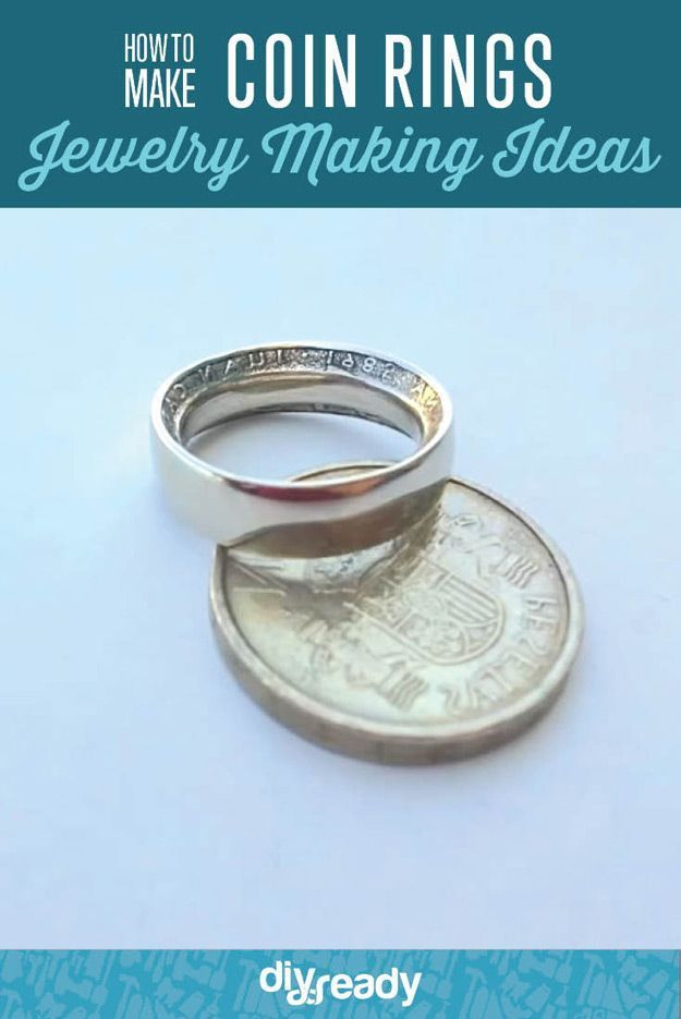 How to Make Coin Rings | Coin ring, Homemade jewelry and Crafts