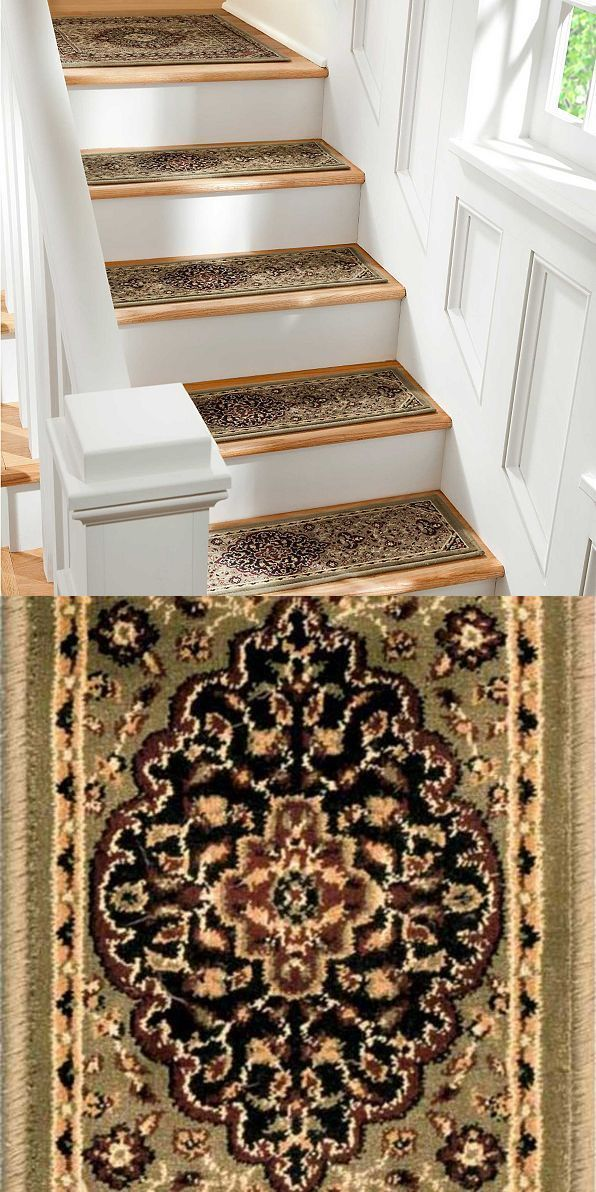 Best Stair Treads 175517 29 Stair Treads Set Of 4 Green Mosaic 640 x 480